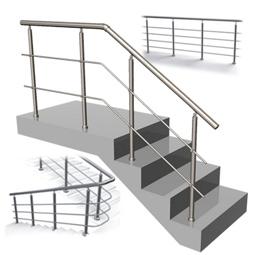 Ограждение лестниц из нержавеющей стали